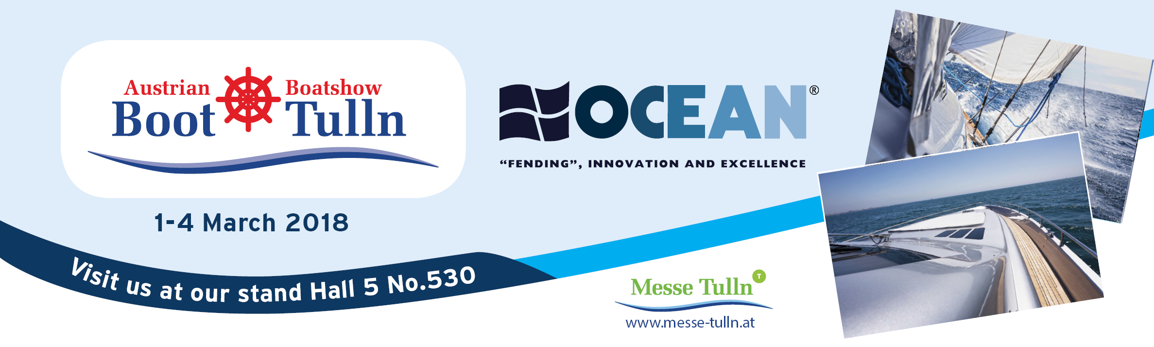 OCEAN at BOOT TULLN 2018 on 1-4 March 2018